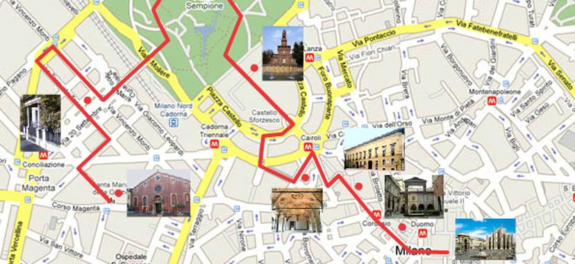 itinerari milano itinerari turistici a milano sito