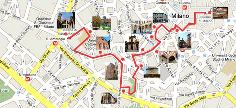 Itinerari Milano - Itinerari Turistici a Milano - Sito